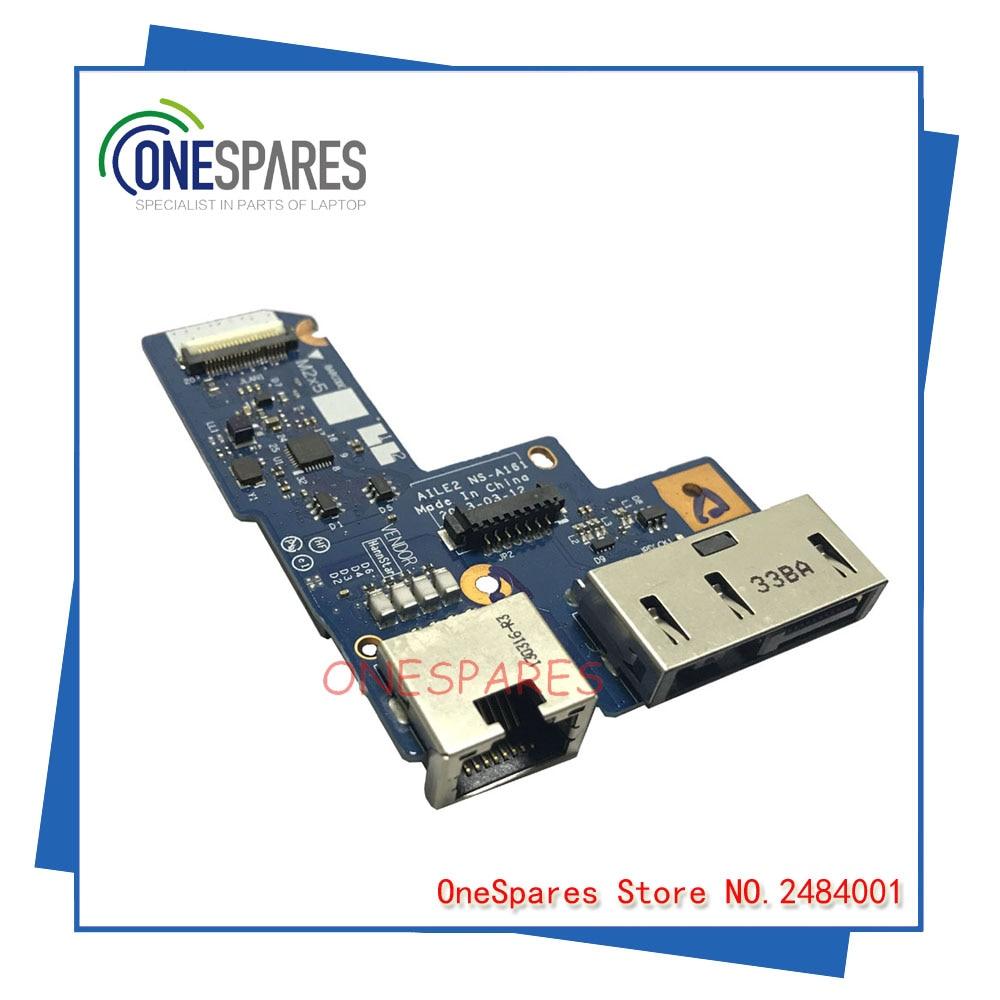 Original laptop For Lenovo For ThinkPad E540 Ethernet DC Power Jack Board AILE2 NS-A161 NS-A161P new original dc in and rj45 lan ethernet board for lenovo thinkpad edge e431 e440 series fru 04x4339 ns a151 dc02c003c00