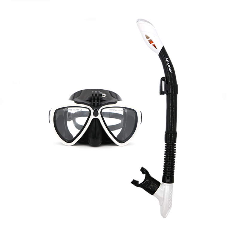 AILLOMA Camera Mask Snorkel Set Tube Diver Glasses Eyewear Silicone - Deportes acuáticos