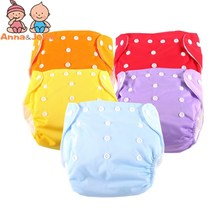 15Pcs/Lot One Size Training Pants Reusable Washable Baby Cloth Nappies 5 DiaperS+10 Inserts
