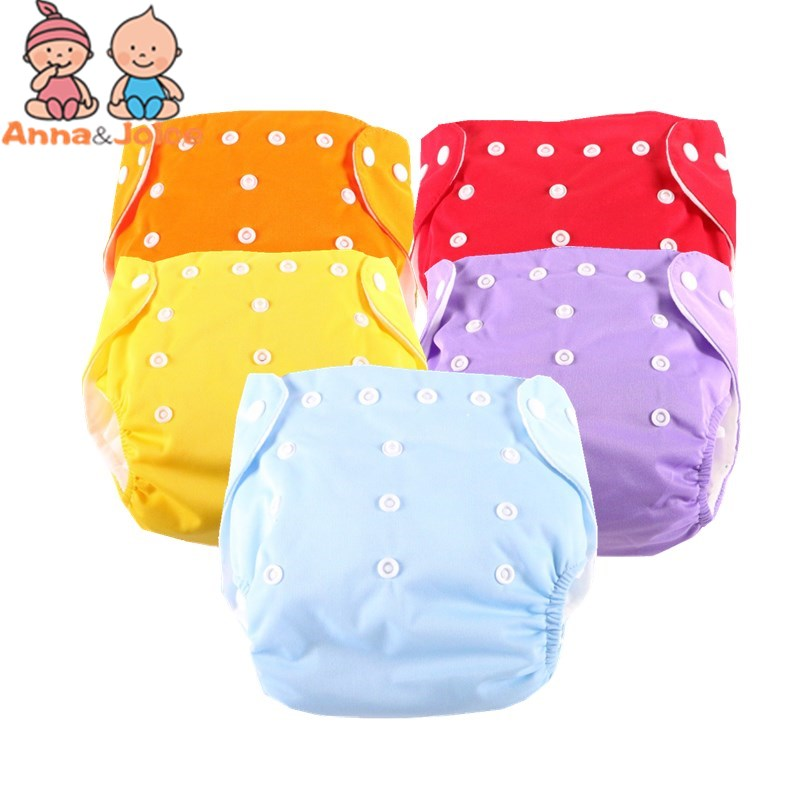 Hot Sale 15pcs/lot One Size 7 Colors For Choose Reusable Washable Baby Cloth Nappies Nappy Diapers 5 Diaper+10 Inserts