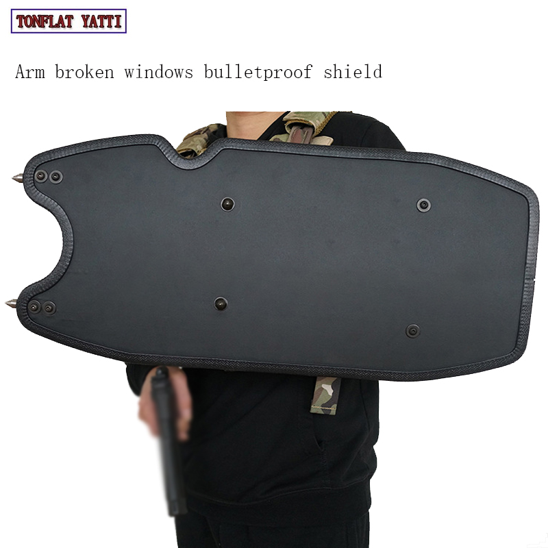 Arm broken windows bulletproof shield UHMWPE military tactical smal lNIJ IIIA electronic warning police special police shieldArm broken windows bulletproof shield UHMWPE military tactical smal lNIJ IIIA electronic warning police special police shield