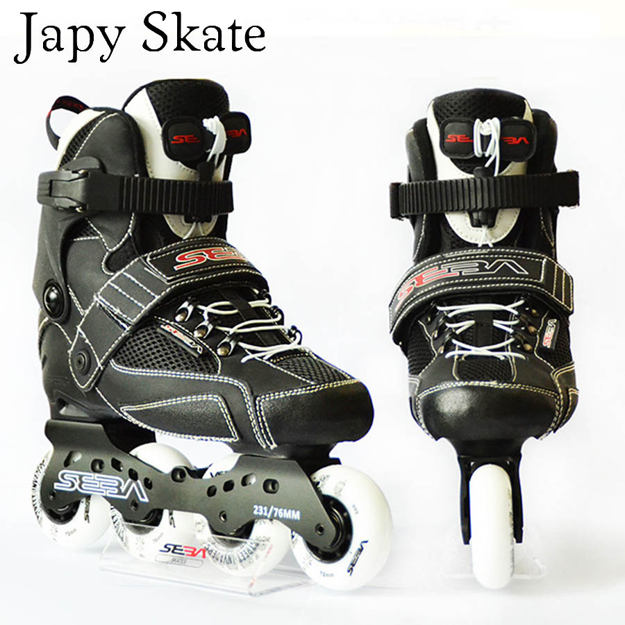 Japy Skate Original SEBA IS Professional Adult Inline Skates Roller Skating Shoes Slalom Sliding Free Skating Patines professional adjustable adult sliding slalom inline skates shoes roller skating shoes roller skate shoes with shinning wheel