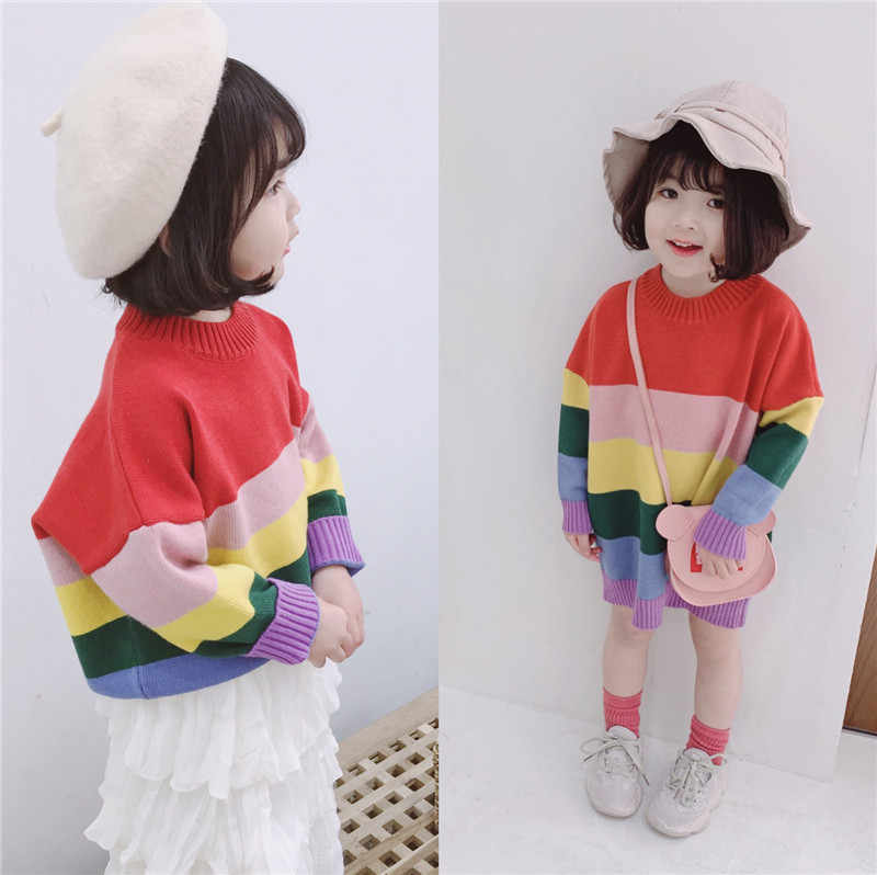 9af0d6bb3bbd Detail Feedback Questions about Rainbow Colorful Baby Girls Sweaters ...