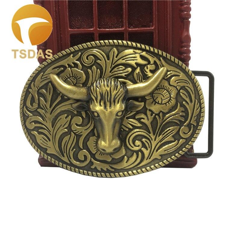 Brass Ox Head Buckles Mens Belt Buckles For Clothing Men s Metal Belt Buckle Head For