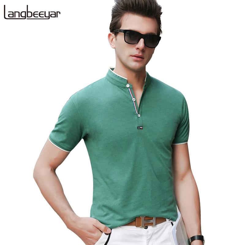 New Fashion Brands   Polo   Shirt Men Mandarin Collar Men Summer   Polo   Shirt Short Sleeve Streetwear Slim Fit Men Clothes 2018
