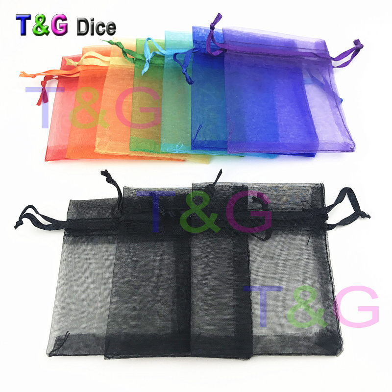 T&G Rainbow Dice Bags 10pcs/lot Colorful Portable For Gift Packaging,Christmas Wedding Portable Or Board Game