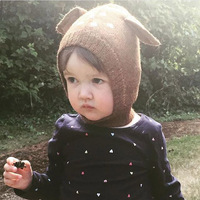 2015 INS Hot Baby Cap Cute Deep Style With Lovely Ears On Top Fashion Girls Boys