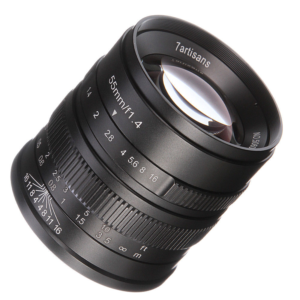 55mm F/1.4 Manual Focus APS-C Lens For Canon EF-M Mount EOS M M10 M6