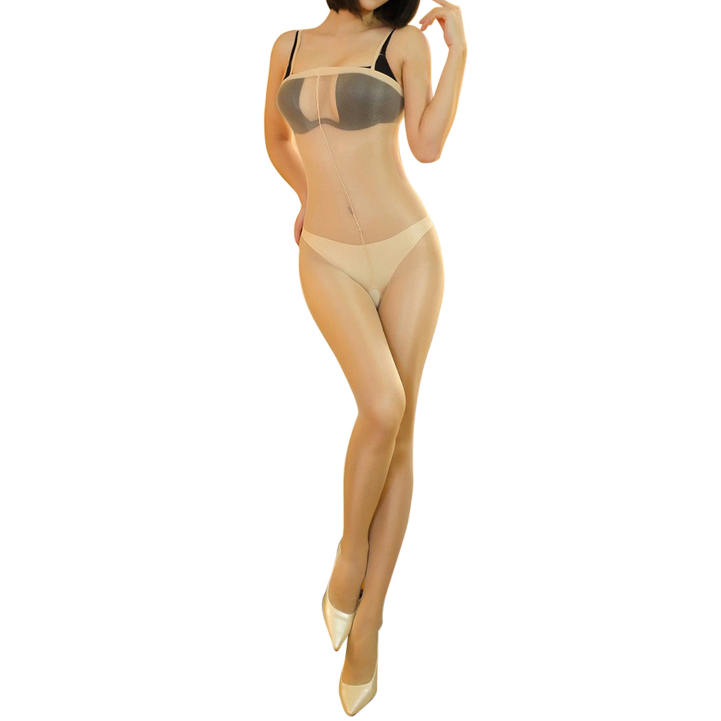 2018 New Sexy Lingerie Strap Body Stockings Shimmer Bodysuit Open Crotch Tights Sheer Pantyhose Party Club Hosiery Q1