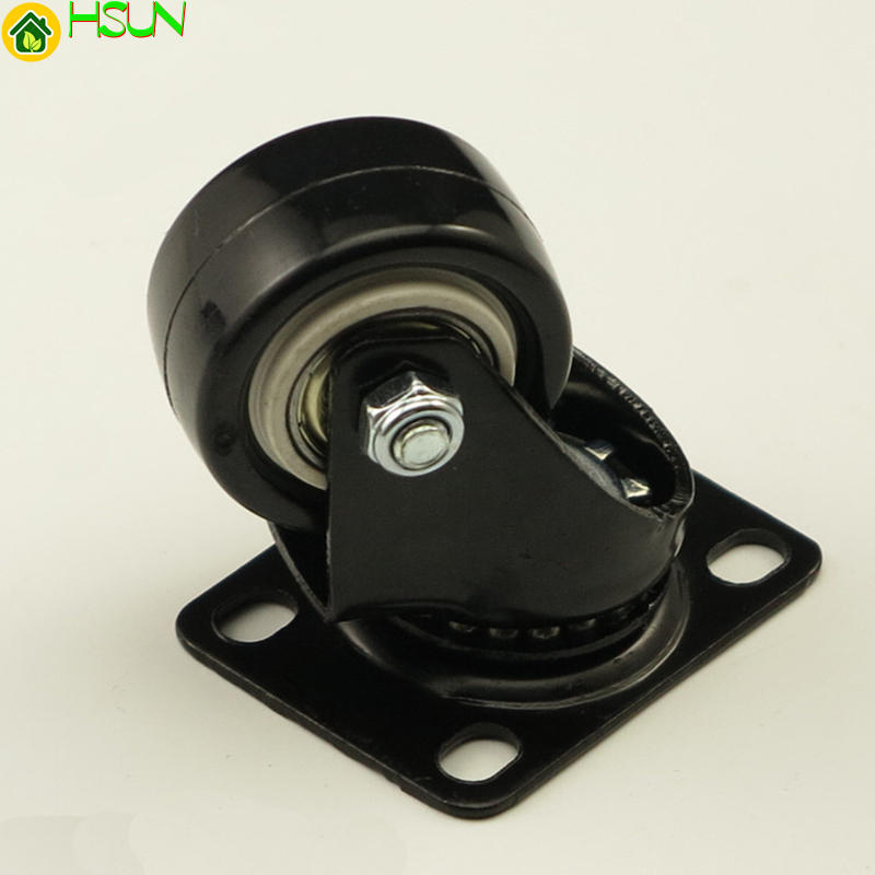 4PCS Black Office Chair Swivel Rubber Casters Industrial Universal Brake Wheels 1.5inch 2inch 2.5inch