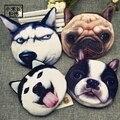 Nueva divertido carteras señora marca lindo de la historieta de la felpa animal creative perro Gato Cara de La Moneda Del Monedero Monederos Niños Mujeres Mini Monedas bolsa