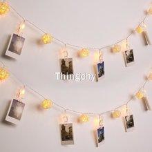 Светящаяся светодиодная гирлянда с теплым белым светом ротанговый