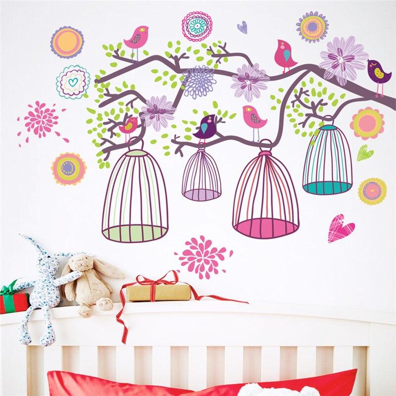 Aliexpress.com : Buy colorful flower bird birdcage wall