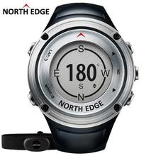 NORTE BORDE GPS Se Divierte el reloj de Los Hombres relojes Digitales de Frecuencia Cardíaca resistente al Agua militar Altímetro Barómetro Brújula horas de funcionamiento