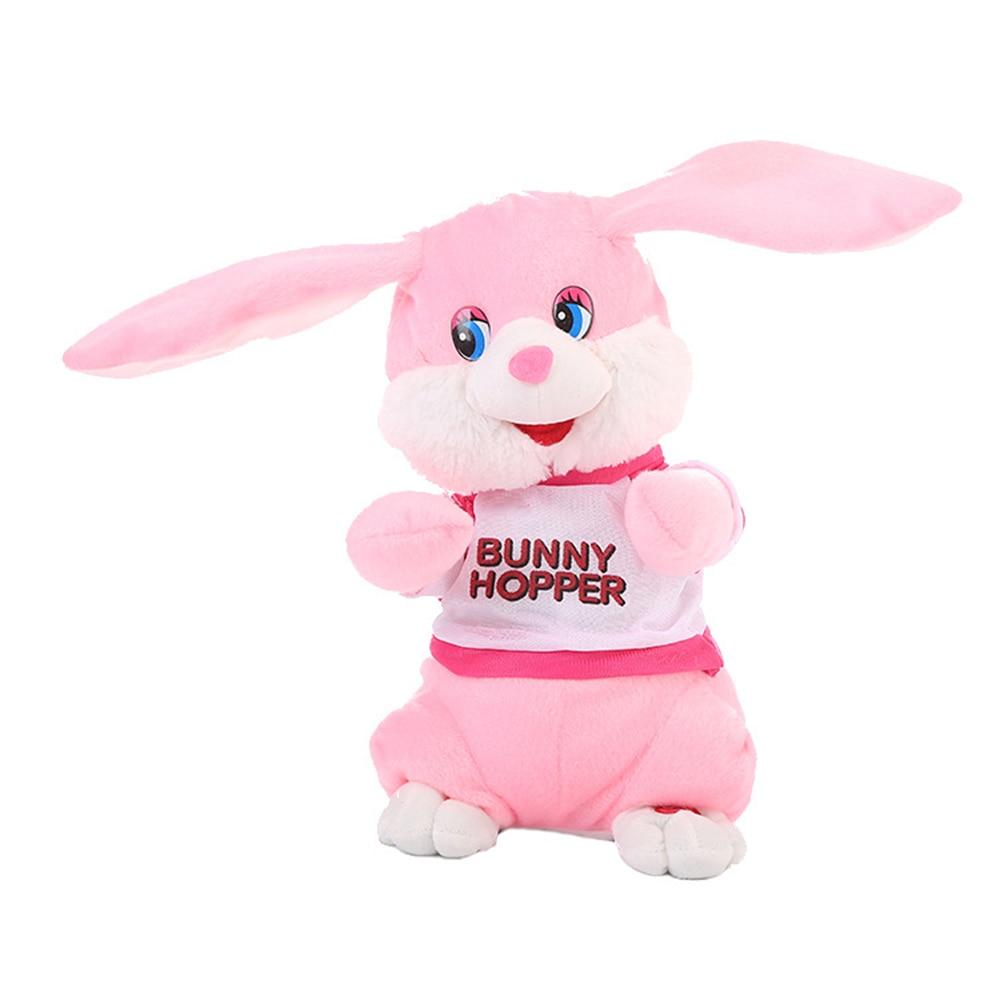 Танцы кролик электрическая кукла уха-кролик, качая электрическая игрушка плюшевая подарок кукла День защиты детей Симпатичные модели вечерние дерево декор игрушка - Цвет: pink