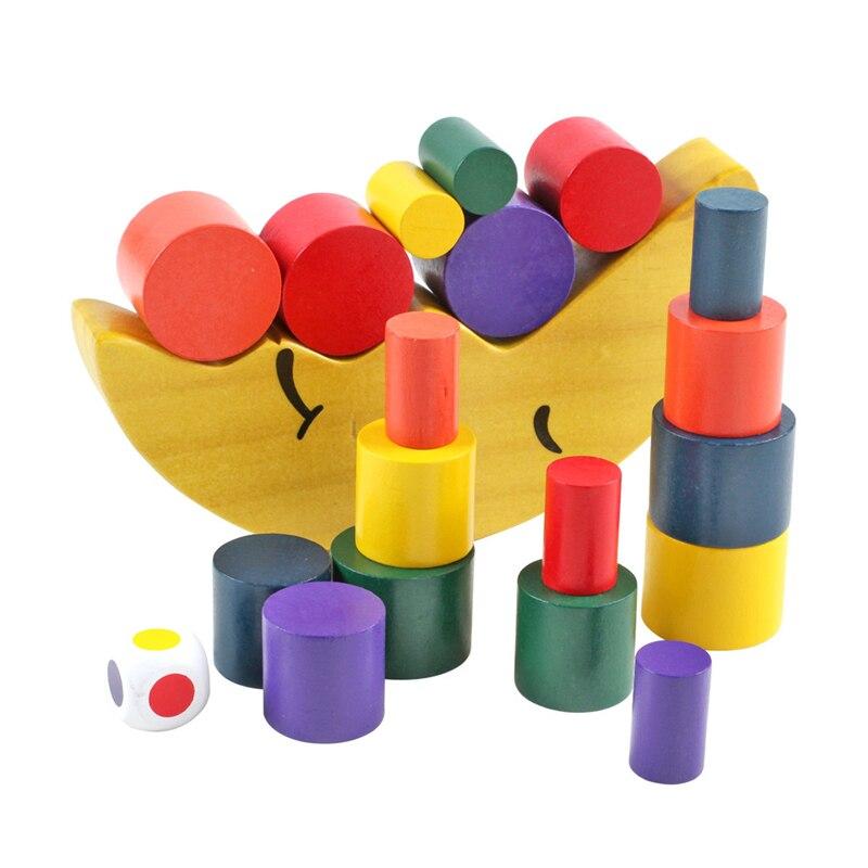 Juguetes Los Bloques Construcción Educativos Del Luna Equilibrio Niños Madera Juguete La Bebé De 8Nwvmn0
