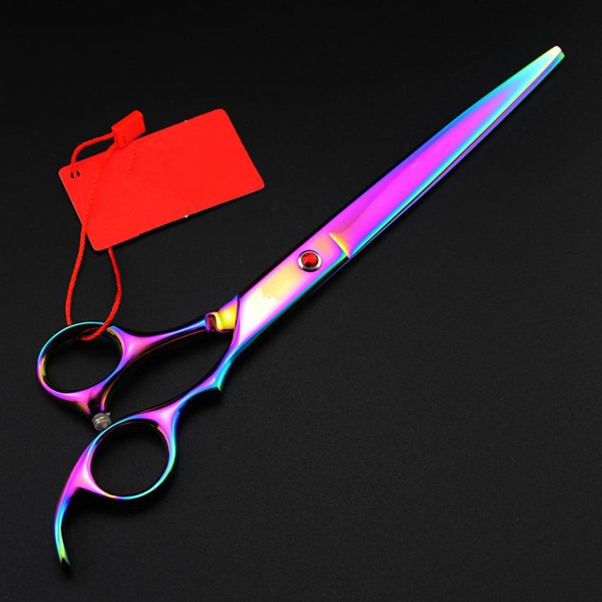 Personnalisé Japon 440c 8 pouces couleurs chien toilettage cheveux - Soin des cheveux et coiffage - Photo 2