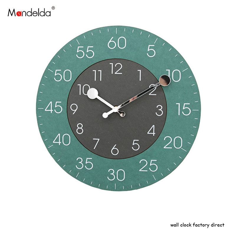 Écologique precolor Board Vintage horloges mur rétro rustique bois européen décor à la maison arabe cadran montres facile à accrocher