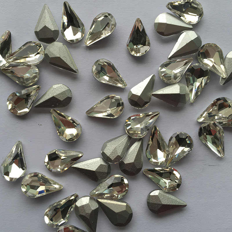 ... 36pcs 8 13 Crystal Glass Rhinestones White Black Grey Red Blue Green  Yellow Brown Pointback ... f2159a3c6261