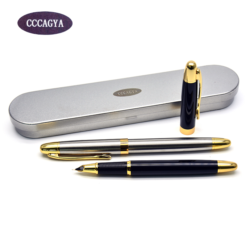 CCCAGYA D001 0.38mm nib ink pen. School Stationery Office Learning Student Business Metal gift pen Classic  Fountain pen