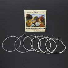 Classical Guitar Strings A106 Clear Nylon Strings Silver-Plated Copper Alloy Wound 20pcs classical guitar strings nylon 3%polyester classic guitarra strings normal