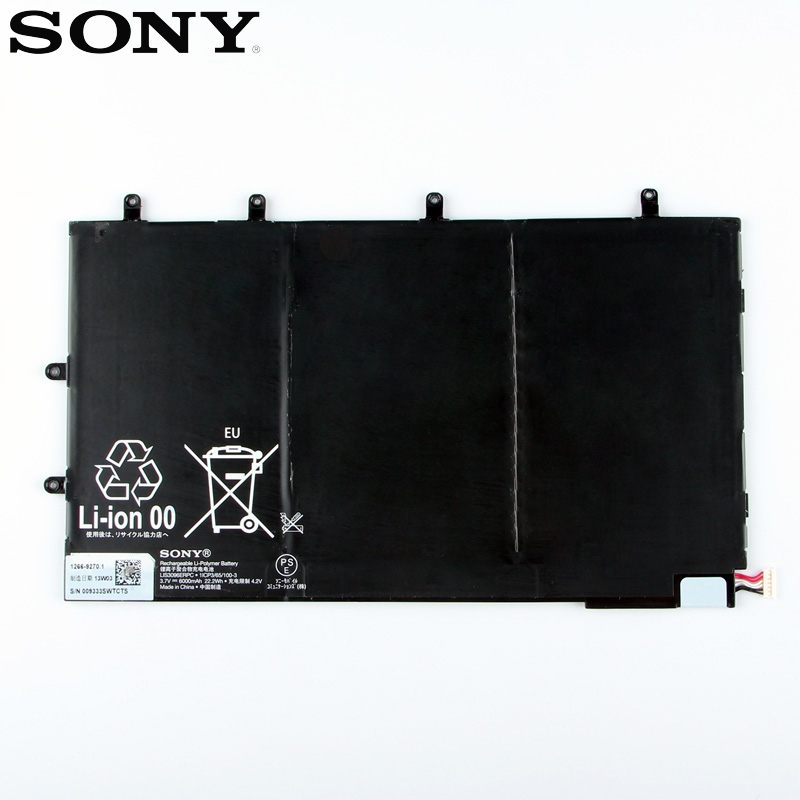 Original Replacement Sony Battery For SONY Xperia Tablet Z Tablet 1ICP3/65/100-3 LIS3096ERPC Genuine Tablet Battery 6000mAh