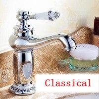 Retro tắm chậu basin vòi, Đèn ma thuật nước phong cách tap vintage, đồng Cổ rửa nhà vệ sinh basin vòi mixer, Miễn Phí Vận Chuyển