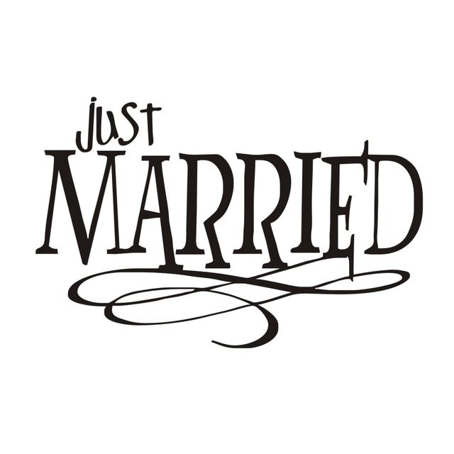 online shop just married quotes wall sticker new design pvc