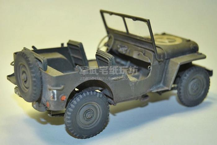 Вторая мировая война джип Willys3D Бумажная модель сделай сам