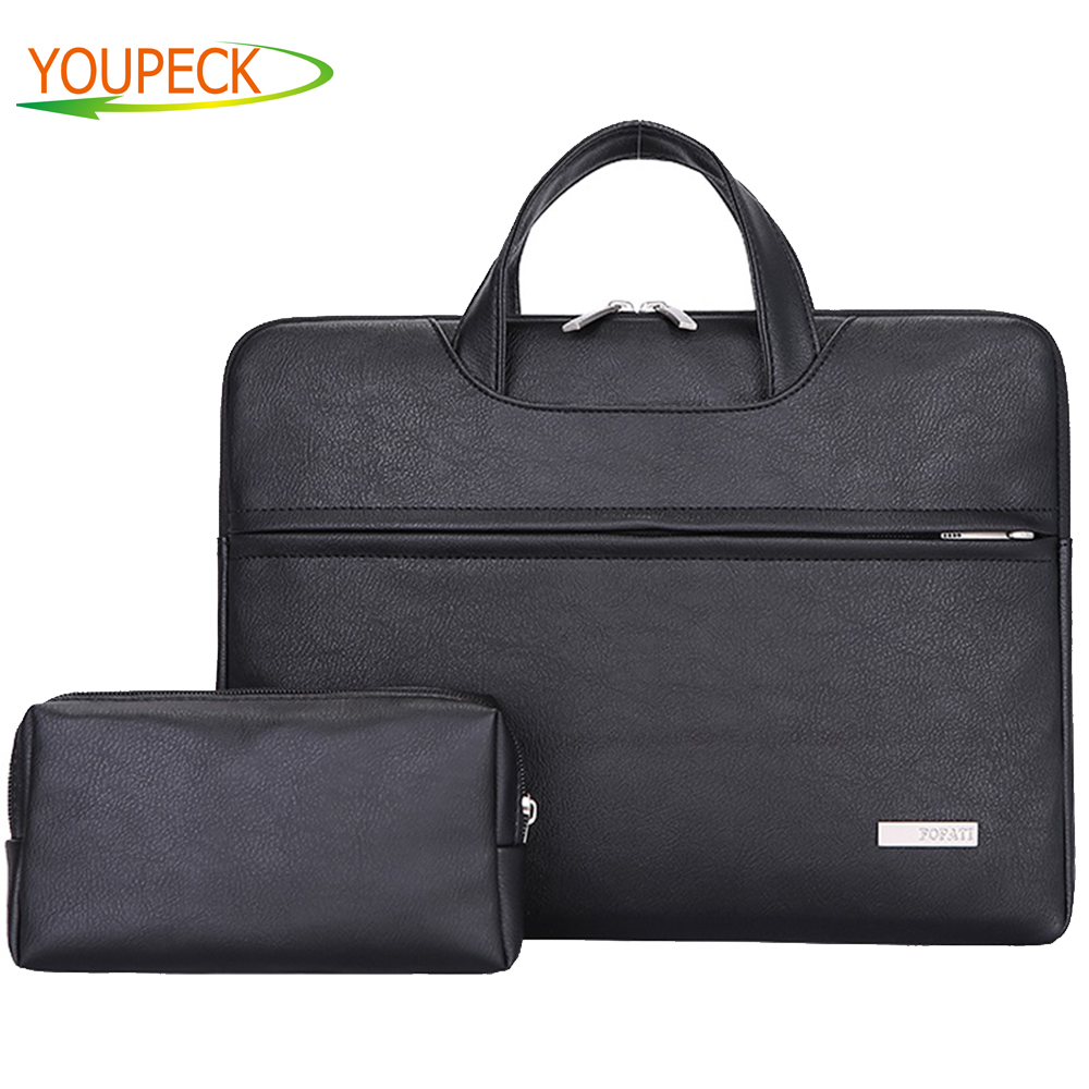 Pu Leather Women Handbag Men Bag 11.6 13.3 14.1 15.4 15.6 Waterproof Notebook Bag for Dell 14 Laptop Bag for Macbook Pro 13 Case