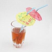 100 Pcs Set 0 5x24cm Quality Paper Drink Cocktail Parasols Umbrellas Luau Sticks Party POP Wedding
