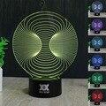 Hy no.46-60 controle remoto 7 cores mudando luzes da noite led 3d mesa candeeiro de mesa de decoração para presentes