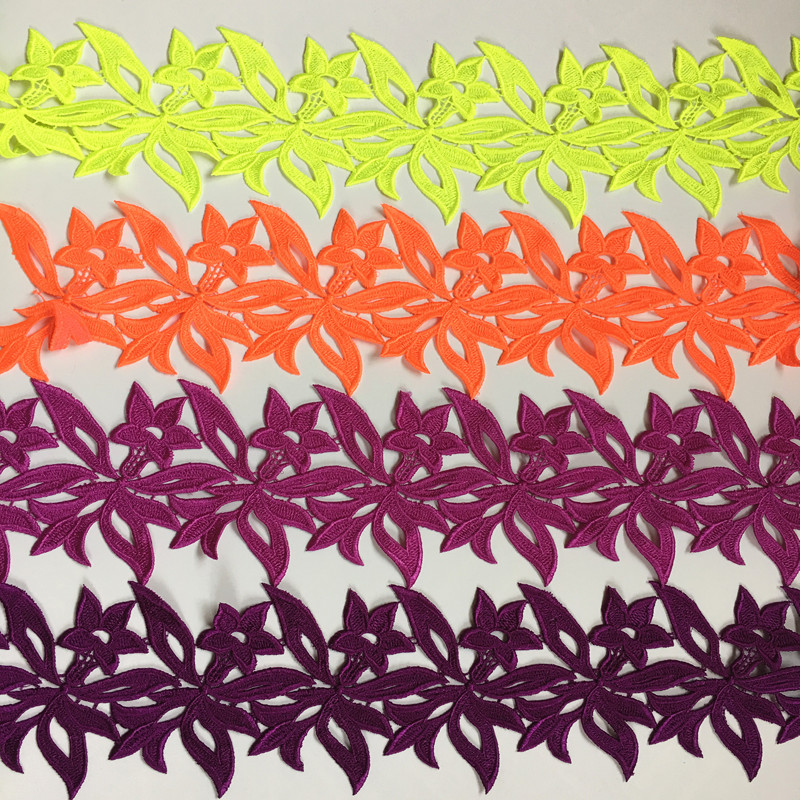 CHICKNIT 5 yards numerous colors Embroidered Water soluble lace trimmings for sewing adress Accessories ...