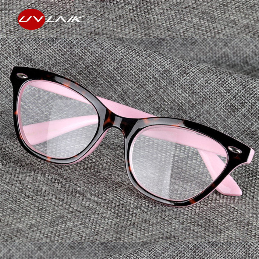 UVLAIK Reading Glasses Cat Eye Women Glasses For Reading Hyperopia Presbyopia Eyewear Diopter Eyeglasses 1.0 1.5 2.0 2.5 3.0