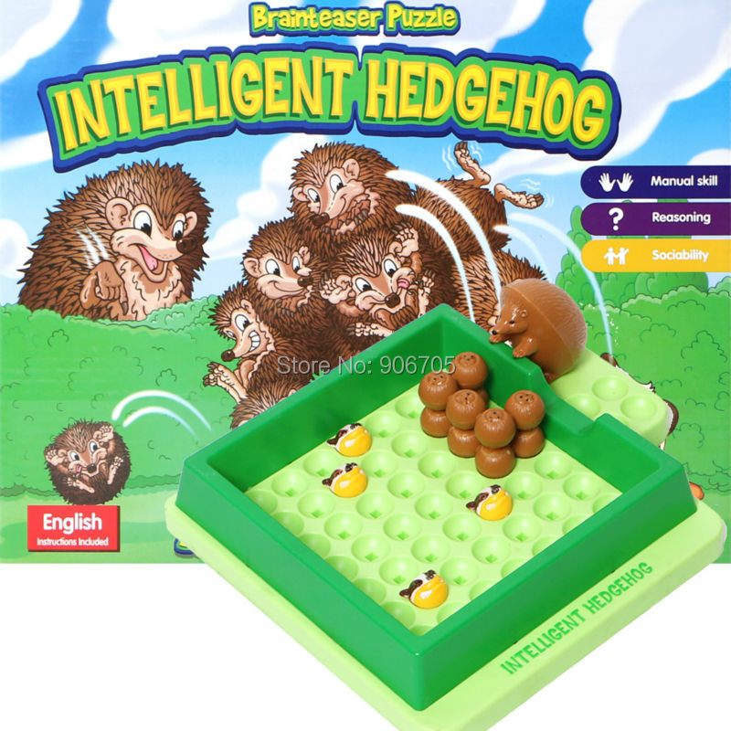 Brainteaser Puzzle intelligent hedgehog -Escape from Badgers Funny Board Game Interactive Game Educational Toys