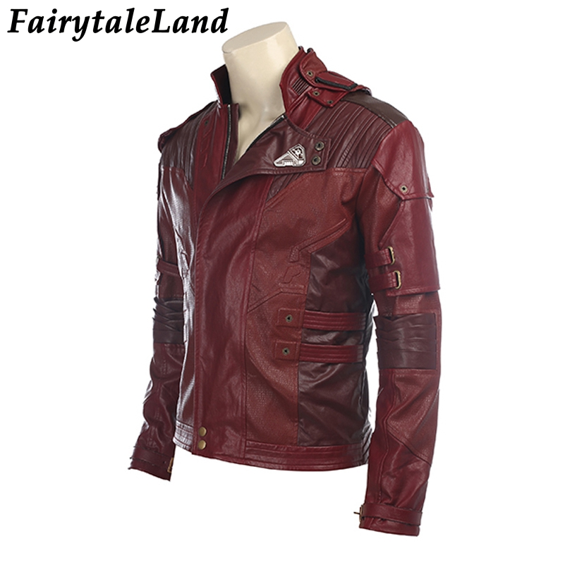 Image 3 - Star Lord Jacket short jacket cosplay Halloween Gloves Guardians of the Galaxy 2 Belt Star Lord cosplay Pants leather jacket-in Movie & TV costumes from Novelty & Special Use