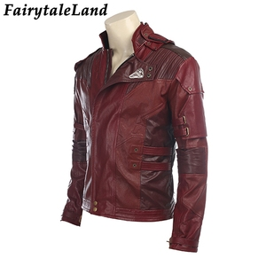 Image 3 - Star Lord Jacket short jacket cosplay Halloween Gloves Guardians of the Galaxy 2 Belt Star Lord cosplay Pants leather jacket