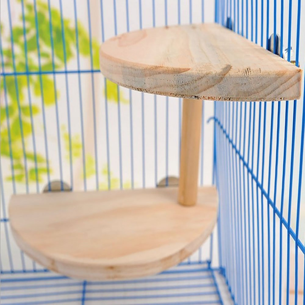 font b Pet b font Wood ledges Platform with Chewing Toys Accessories for Mouse Chinchilla
