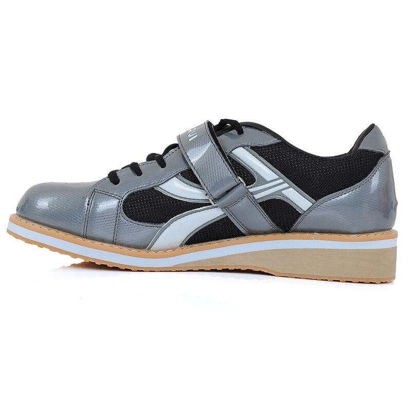 Chaussures d'haltérophilie professionnelles de haute qualité Kangrui Squat formation en cuir antidérapant chaussures de musculation - 3
