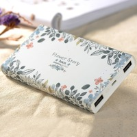 HOCO Power Bank 13000 mah portable External Battery powerbank floral Printed Dual USB Charger power supply for mobile phones