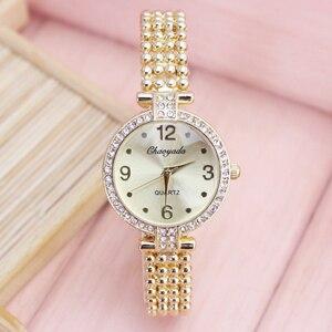 2018 new women ladies fashion dress quartz wristwatches hand catenary diamond watches electronic girls clock relog mujer jewelry