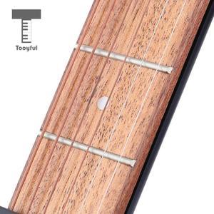 Image 5 - 4 Fret 6 dizeleri sağ Handed cep gitar seyahat gitar seti acemi çocuklar uygulama aracı parmak egzersiz müzikal enstrüman
