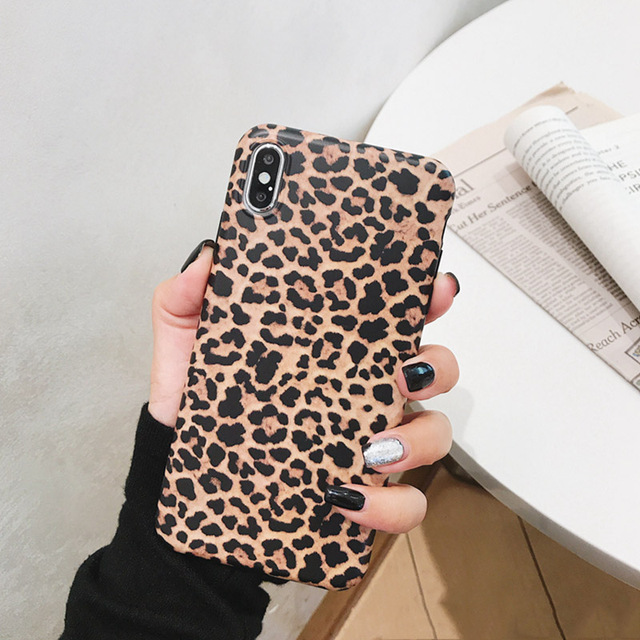 Leopard Phone Case For iphone - Luxury Soft Cases Matte Capa 3