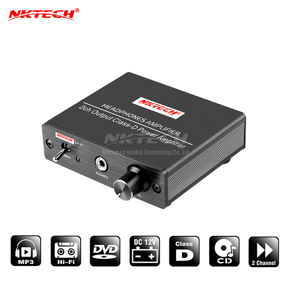 NKTECH LP-A1 Digital Power Verstärker Hallo-fi Stereo Audio Kopfhörer 20W RMS 2-CH Klasse-D 130g MINI Wireless amp Für Auto MP3 MP4