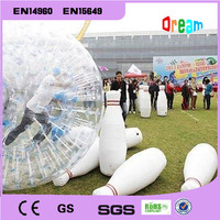 Free Shipping 6 pieces and 1 Piece Zorb Ball Inflatable Bowling Pins Inflatable Human Bowling Grassland Ball Human Bowling Bs