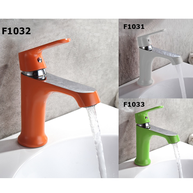 Frap Mixer Faucets Home Bathroom Faucet Basin Mixer Tap Cold-Hot Water Taps Brass Spray painting Robinet Torneiras F1031