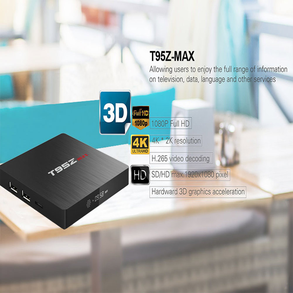 Sunvell T95Z MAX 3GB RAM 32GB ROM Android Box Amlogic S912 Octa Core Android 7.1 TV Box 4K 2.4G/5G WiFi Smart Android TV BOX
