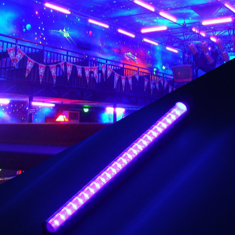 Us 11 91 45 Off 30cm 14w 110 220v 24 Led Uv Black Light Bar 395nm Blacklight Dj Party Club Effect Fixture Stage Decor Eu In
