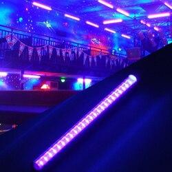 30cm 14W 110-220V 24  LED UV Black Light Bar UV 395nm Blacklight DJ Party Club Halloween Effect Light Fixture Stage Decor EU/US
