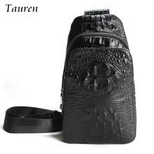 Luxury Embossed Alligator Pattern Men Fashion Design High Quality Messenger Bag Male Business Shoulder Leather Travel Flap Bags